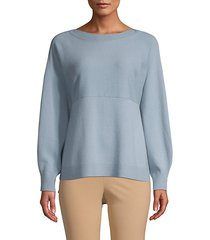 side-slit wool cashmere sweater