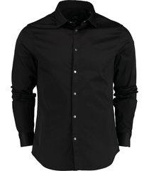 armani exchange overhemd zwart stretch sf 6hzc13.zn10z/1200