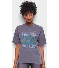 camiseta colcci energia brasileira feminina - feminino