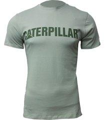 camiseta hombre slim fit caterpillar logo beige cat