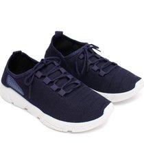 tenis con detalle azul color azul, talla 39