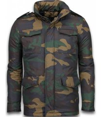 heren winterjas - camouflage jack