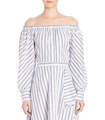 leandrea cotton off-the-shoulder blouse