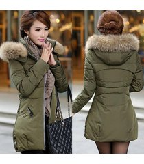 2017 women fashion long sleeved fur coat winter warm down jacket
