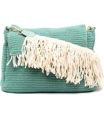 la milanesa braided cotton cross body bag - green