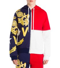 versace men's colorblock track jacket - red white blue - size s