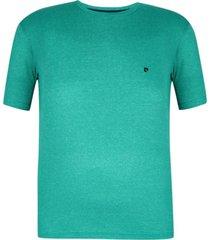 camiseta plus size verde mescla win - kanui