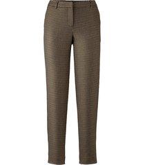 broek alba moda bruin::beige::zwart