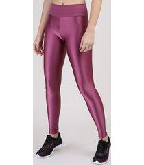 calça legging esportiva ace cintura alta texturizada vinho