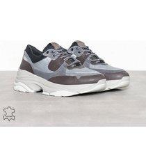 selected homme slhgavin trainer w sneakers grå