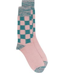 ambush checked long socks - pink