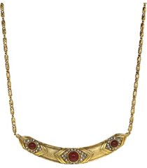 t.r.u. by 1928 14 k gold and crystal collar necklace