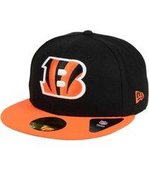 new era cincinnati bengals black team 59fifty cap