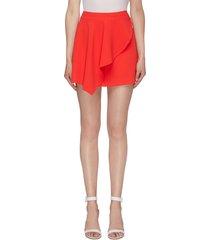 'nicky' asymmetric drape skirt