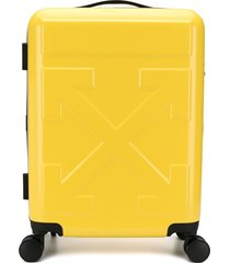 "off-white ""for travel"" logo suitcase - yellow"