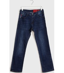 jeans ellus straight tiro medio azul - calce straight fit