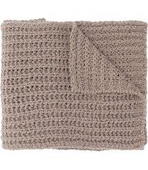 rick owens chunky knit scarf - grey