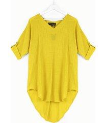 letnia tunika oversize stefania żółta