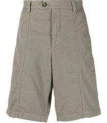 brunello cucinelli straight-leg tailored shorts - green