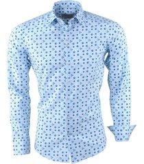 ferlucci heren overhemd met trendy design calabria licht blauw