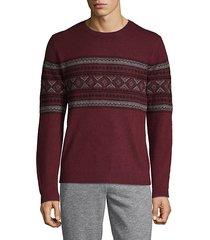 geometric-print cashmere sweater