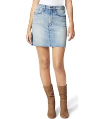 joe's jeans hr cut-hem denim mini skirt