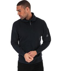 mens sleeve logo hooded zip sweatshirt