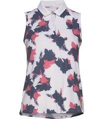 floral sleeveless polo t-shirts & tops polos multi/mönstrad puma golf