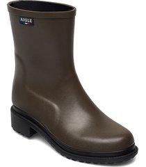 ai fulfeel mid nori regnstövlar skor brun aigle