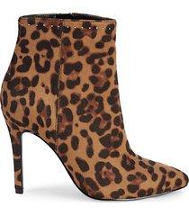 dayton leopard-print suede booties