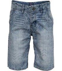 bermuda azul songe jeans con estampado