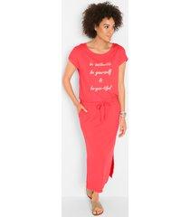 jersey jurk met print, korte mouw