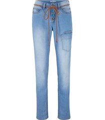jeans cargo elasticizzati straight (blu) - john baner jeanswear