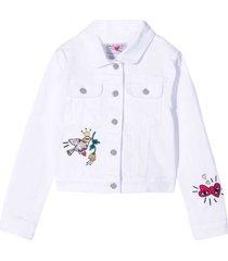 sonia rykiel enfant white teen jacket