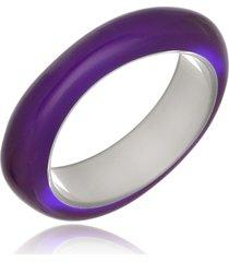 bracelete le diamond esmaltado acrílico roxo