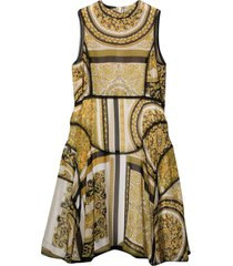 young versace gold dress
