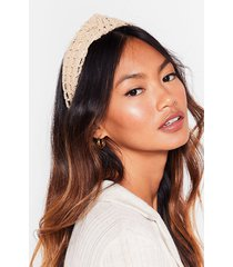 womens all natural oversized knot headband