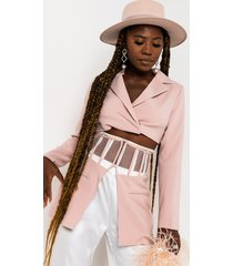 akira make it happen blazer crop jacket and belt