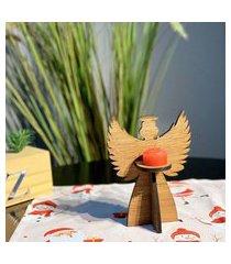 enfeite de mesa natalino anjo natalino com vela único