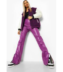 nepleren broek met split, purple