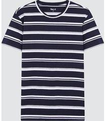 camiseta para hombre franjas azules color azul, talla l