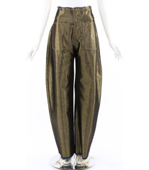 marques almeida gold coated wide leg jeans