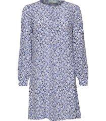 ines printed dress kort klänning blå morris lady