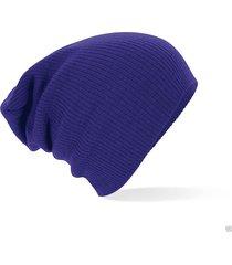 gorro lana unisex - color azul oscuro