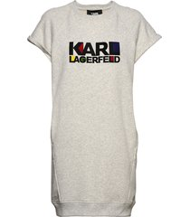 bauhaus logo sslv sweat dress kort klänning grå karl lagerfeld