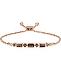 le vian women's chocolatier® 14k strawberry gold®, chocolate quartz® & chocolate diamond® bolo bracelet