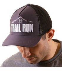 boné trucker corrida bordado snapback trail irun cinza - kanui