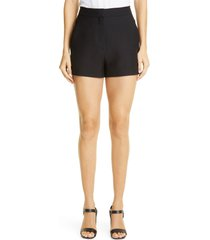 valentino crepe shorts, size 6 us in 0no-black at nordstrom