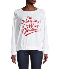 prince peter collection women's graphic raglan-sleeve sweatshirt - white - size xxl
