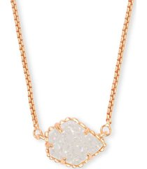 "kendra scott drusy stone pendant necklace, 15"" + 2"" extender"
